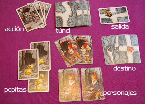 Tipos de cartas en Saboteur