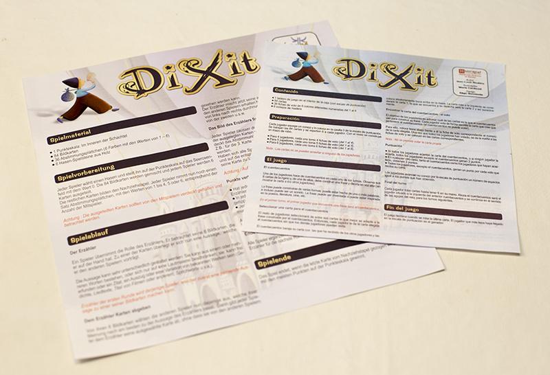 Instrucciones de Dixit